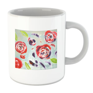 Acrylic Painted Flowers Mug