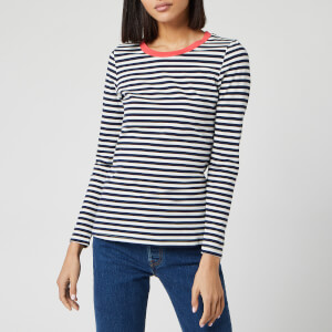 Joules Women's Selma Long Sleeve Crew Neck Top - French Navy Stripe