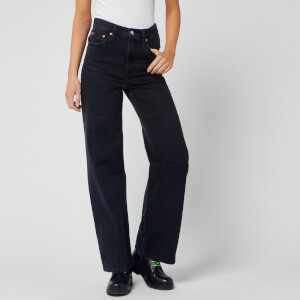 Levi's Women's Ribcage Wide Leg Jeans - Black Book