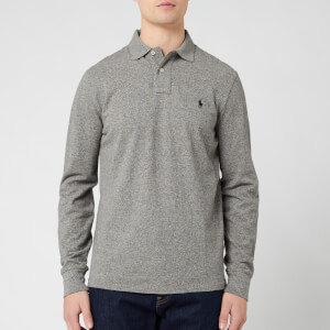Polo Ralph Lauren Men's Custom Slim Fit Long Sleeve Polo Shirt - Canterbury Heather