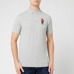 Polo Ralph Lauren Men's Bear Logo Polo Shirt - Andover Heather
