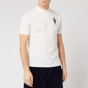 Polo Ralph Lauren Men's Bear Logo Polo Shirt - Basic White