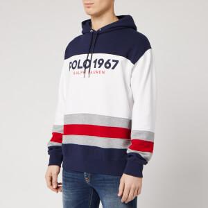 Polo Ralph Lauren Men's 1967 Logo Pop Over Hoodie - White/Multi