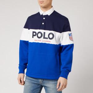 Polo Ralph Lauren Men's Polo Logo Rugby Top - Newport Navy