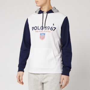 Polo Ralph Lauren Men's 1967 Logo Pop Over Hoody - White/Multi