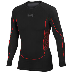 Sportful 2nd Skin Long Sleeve Baselayer - Black