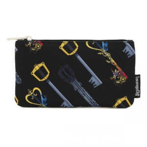 Loungefly Disney Kingdom Hearts Keys Aop Nylon Pouch