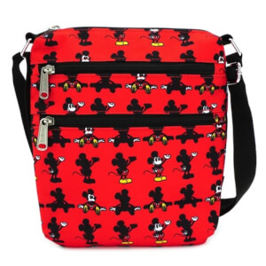 Loungefly Mickey Parts AOP Nylon Passport Bag
