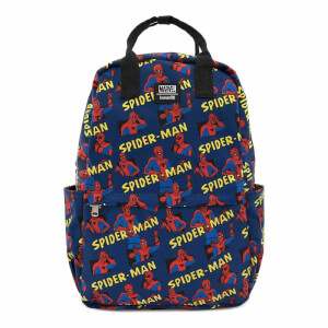 Loungefly Marvel Spiderman AOP Square Nylon Backpack