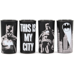 Batman Set of 4 Mini Glasses