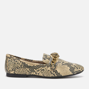 Kurt Geiger London Women's Chelsea Snake Print Loafers - Black/Grey