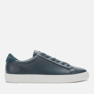 Kurt Geiger London Men's Donnie Leather Cupsole Trainers - Navy