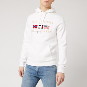Tommy Hilfiger Men's Multi Flag Hoodie - White