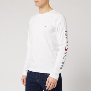 Tommy Hilfiger Men's Logo Long Sleeve T-Shirt - White