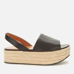 KENZO Women's Platform Espadrille Sandals - Black