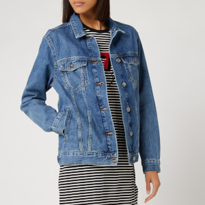 Superdry Women's 90s Oversized Denim Jacket - Denim Indigo Light Mid