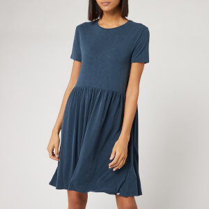 Superdry Women's Smocked T-Shirt Dress - Beechwater Blue