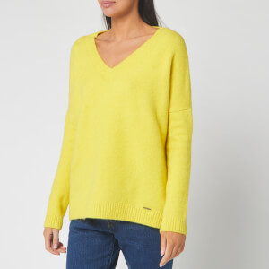 Superdry Women's Edit Eva Vee Knitted Jumper - Dry Meadow