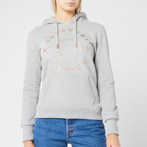 Superdry Women's Nyc Studio Foil Hoodie - Grey Marl