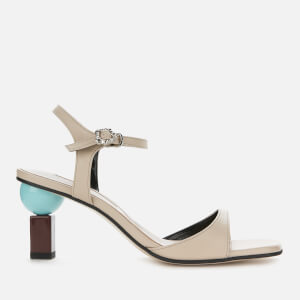 Yuul Yie Women's Sora Leather Barely There Heeled Sandals - Light Beige/Wine