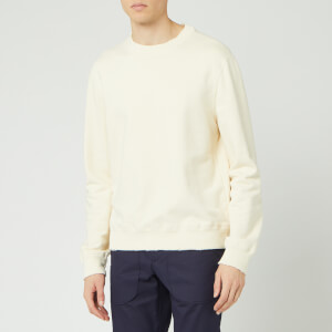 Lanvin Men's Big Label Print Sweatshirt - Ecru
