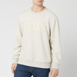 Levi's Men's Polar Fleece Pop Over Sweatshirt - Heathered Fog