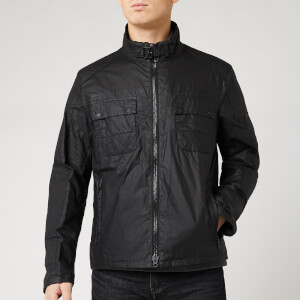 Barbour International Men's Blyton Wax Jacket - Black