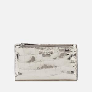 Kate Spade New York Women's Sylvia Croc Small Wallet - Gunmetal