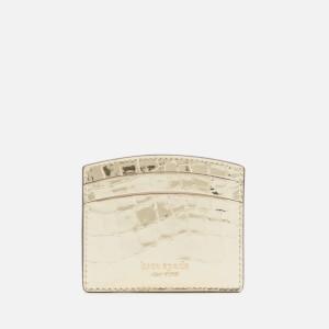 Kate Spade New York Women's Sylvia Croc Card Holder - Gold