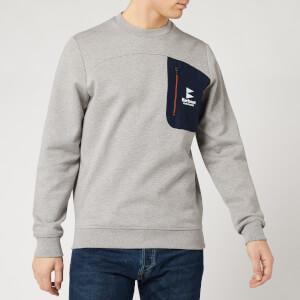 Barbour Storm Force Men's Skiff Crewneck Sweatshirt - Grey Marl