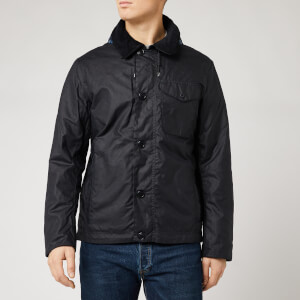Barbour Storm Force Men's Bunt Wax Jacket - Navy