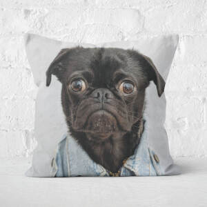Gangsta Pug Square Cushion