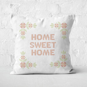 Home Sweet Home Cross Stitch Square Cushion