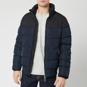 Superdry Men's Track Sports Puffer Jacket - Eclipse Navy