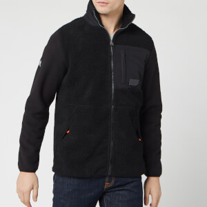 Superdry Men's Sherpa Desert Modern Zip Through Top - Black