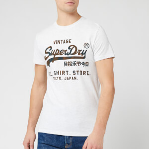 Superdry Men's Vintage Label Store Infill T-Shirt - Ice Marl
