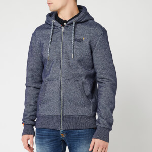 Superdry Men's Orange Label Classic Zip Hoody - Rich Navy Twill