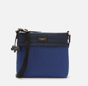 Radley Women's Penton Mews Colour Block Medium Ziptop Cross Body Bag - Sapphire