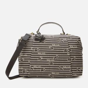 Radley Women's Radley Stripe Oilskin Medium Zip Around Multiway Bag - Black