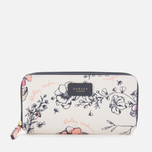 Radley Women's Sketchy Floral Large Zip Around Matinee - Bright White