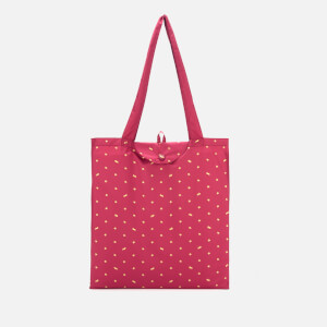 Radley Women's Ditsy Dog Foil Foldaway Tote Bag - Raspberry