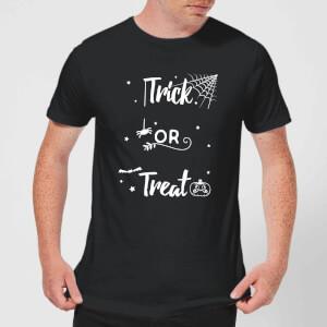 Trick Or Treat Spider Men's T-Shirt - Black