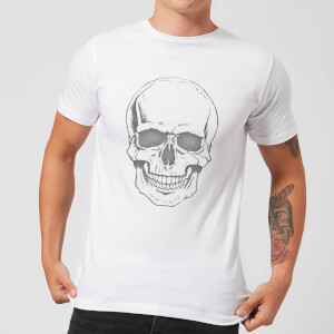 Skull Men's T-Shirt - White