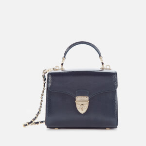 Aspinal of London Women's Mayfair Micro Lizard Bag - Midnight Blue