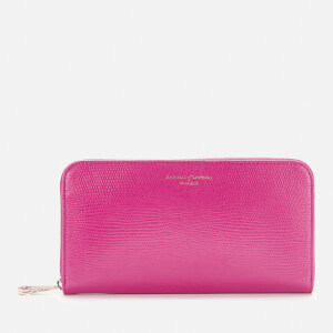 Aspinal of London Women's Continental Lizard Purse - Penelope Pink