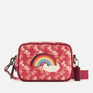 Coach 1941 Women's Coated Canvas Rainbow Print Small Camera Bag - Red
