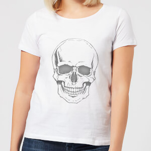 Skull Women's T-Shirt - White