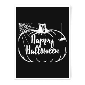 Happy Halloween Pumpkin Art Print