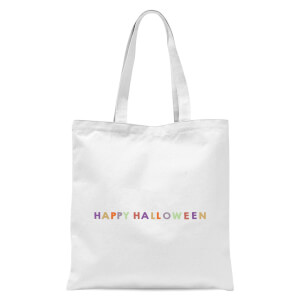 Colourful Happy Halloween Tote Bag - White