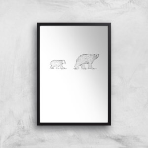 Mum And Cub Polar Bear Art Print